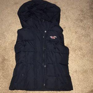 Navy Hollister vest
